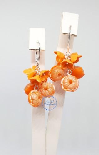 Auskarai mandarinai